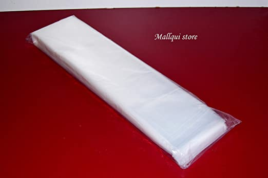 """100 CLEAR 5 x 5/"""" POLY BAGS PLASTIC LAY FLAT OPEN TOP PACKING ULINE 1 MIL"""