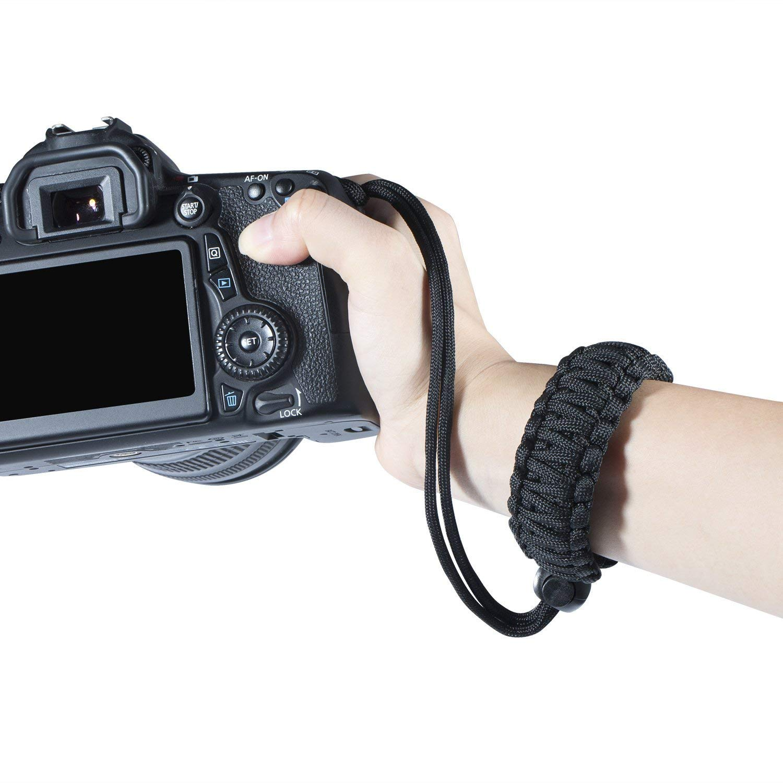 Cámara digital Correa de muñeca durable personalidad supervivencia pulsera Hombro Cuello Cinturón Vendimia Universal Correa de la camara para DSLR Nikon Canon Sony Panasonic. Baisy 17042501CS