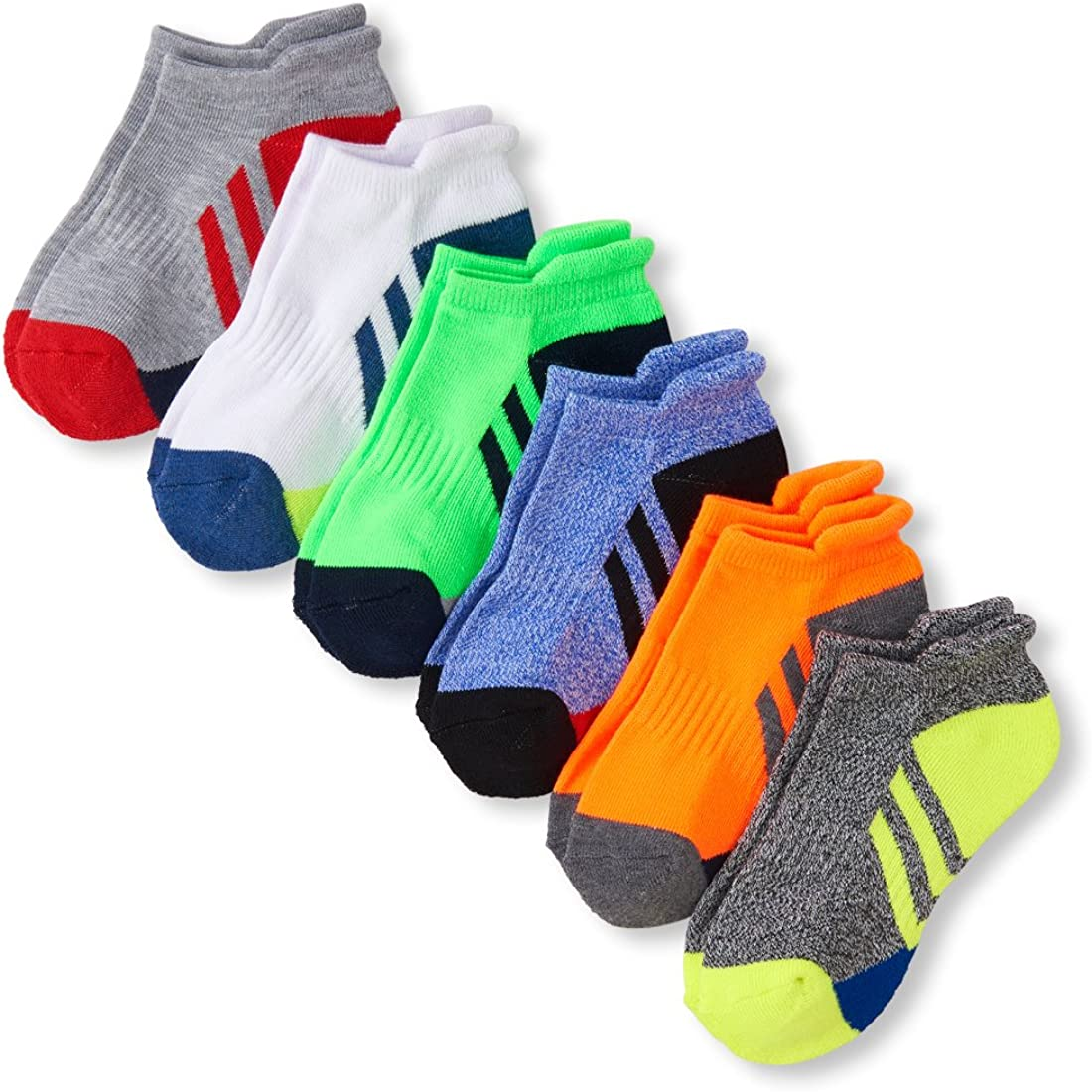 The Childrens Place Boys Big 6 Pack Sport Ankle Sock