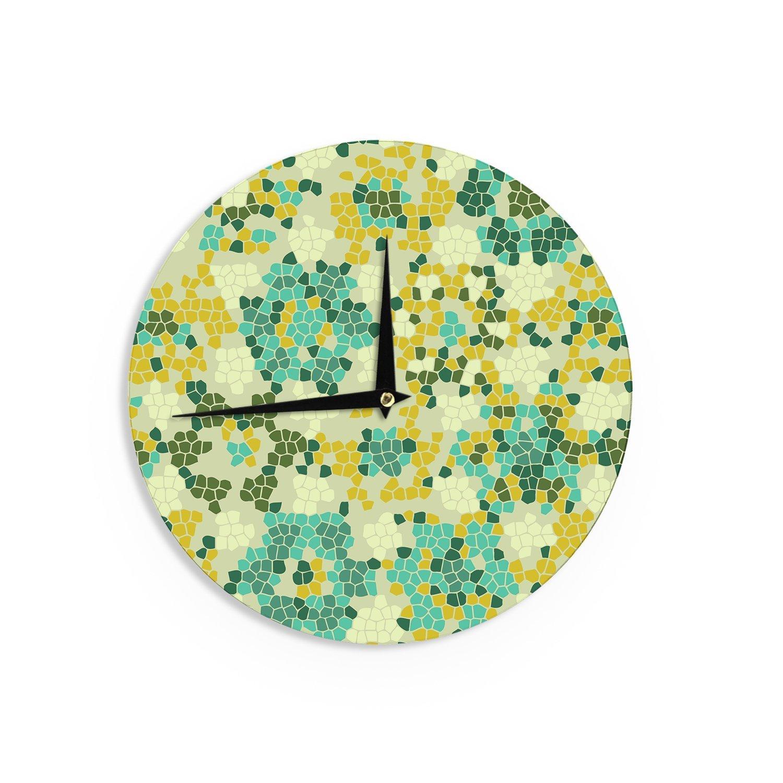 Kess InHouse Laura Nicholson Flower Garden Mosaic Wall Clock 12