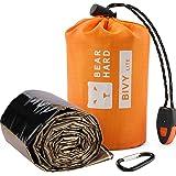 Bearhard Emergency Sleeping Bag Emergency Gear Bivy Sack Ultralight Waterproof Thermal Survival Bivvy Bag with Heat Retention