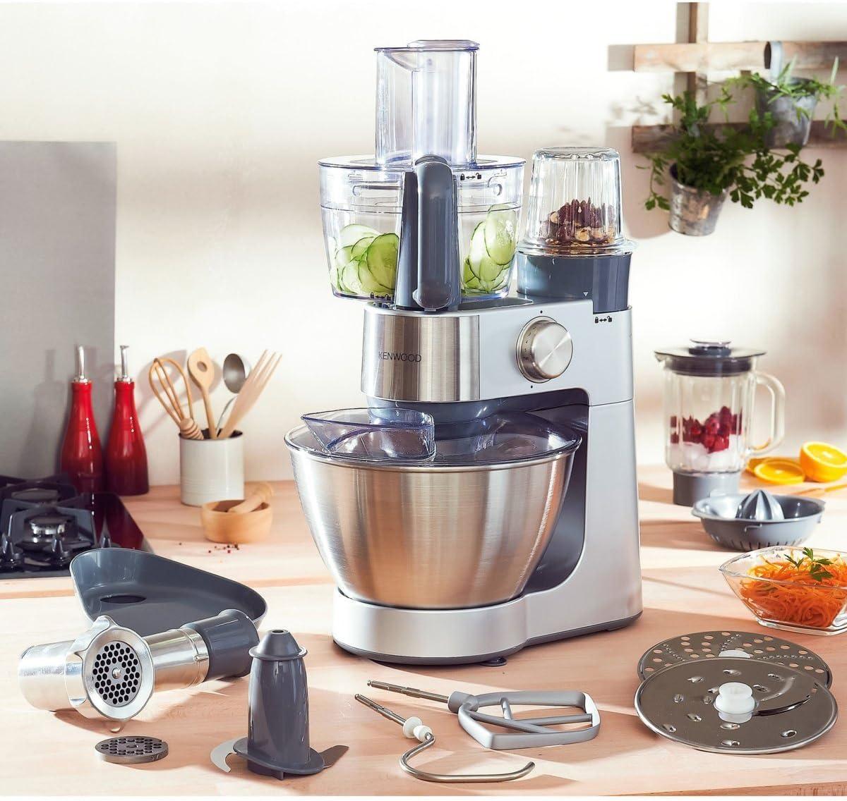 Kenwood Prospero KM286 900W 4.3L Acero inoxidable - Robot de cocina (4,3 L, Acero inoxidable, Acero inoxidable, De plástico, 900 W, 243 mm): Amazon.es: Hogar