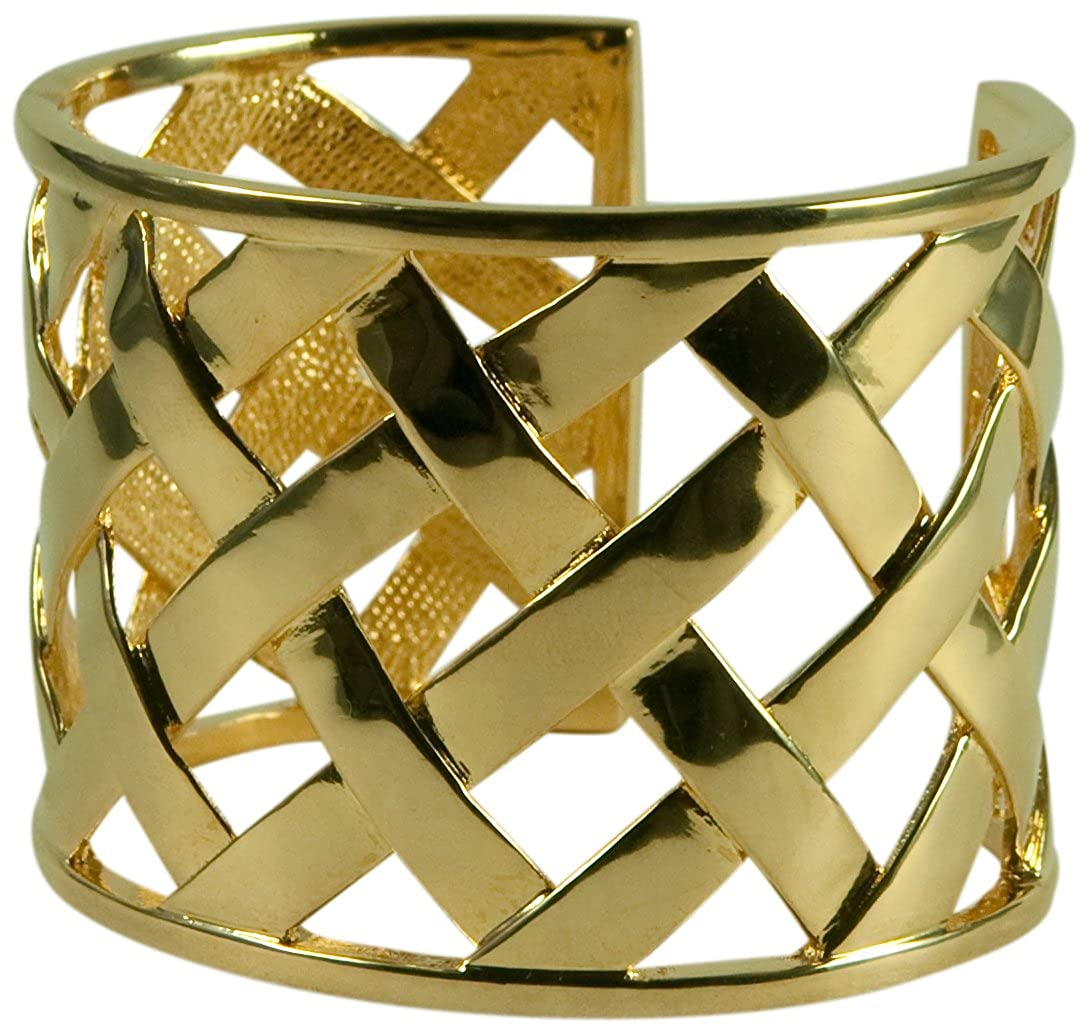 1c00391d26c Amazon.com: Kenneth Jay Lane-basket Weave Cuff Bracelet- 14kt Gold Plate:  Jewelry