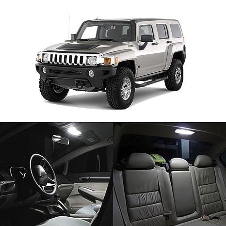 Amazon.com: Partsam 2005-2010 Hummer H3 White Interior LED Lights ...