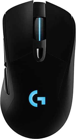 Logitech G703 Lightspeed Gaming Mouse with POWERPLAY Wireless Charging Compatibility, Black