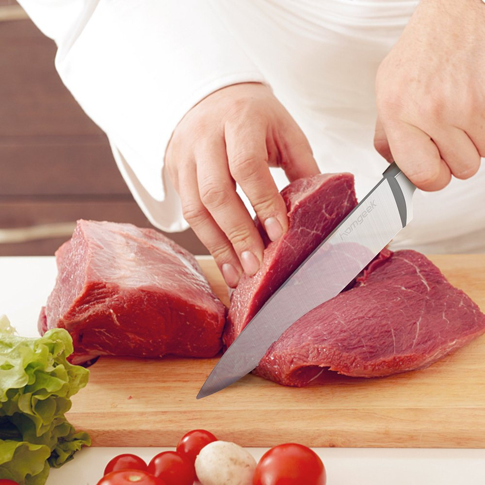 719efX2z6ZL. SL1000  Homgeek Chef Knife, coltello da cucina tedesco in acciaio con lama da 20 cm