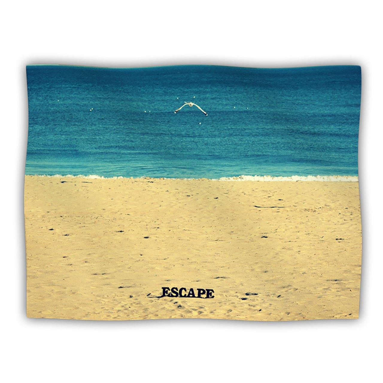 Kess InHouse Robin Dickinson Escape Beach Sand Pet Dog Blanket, 60 by 50-Inch