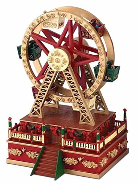mr christmas animated ferris wheel carnival ride music box decoration 19802