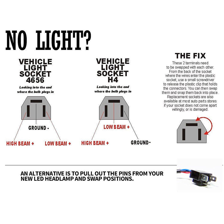 Amazon.com: Pair of 7X6 LED Headlights H6054 H5054 69822 6052 6053 ...