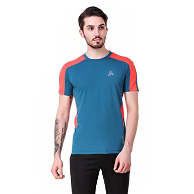 6fc60028b Delta Sports T-Shirt 100 Men Half Sleeve Round Neck Blue Colour Sports T- Shirt  Amazon.in  Clothing   Accessories