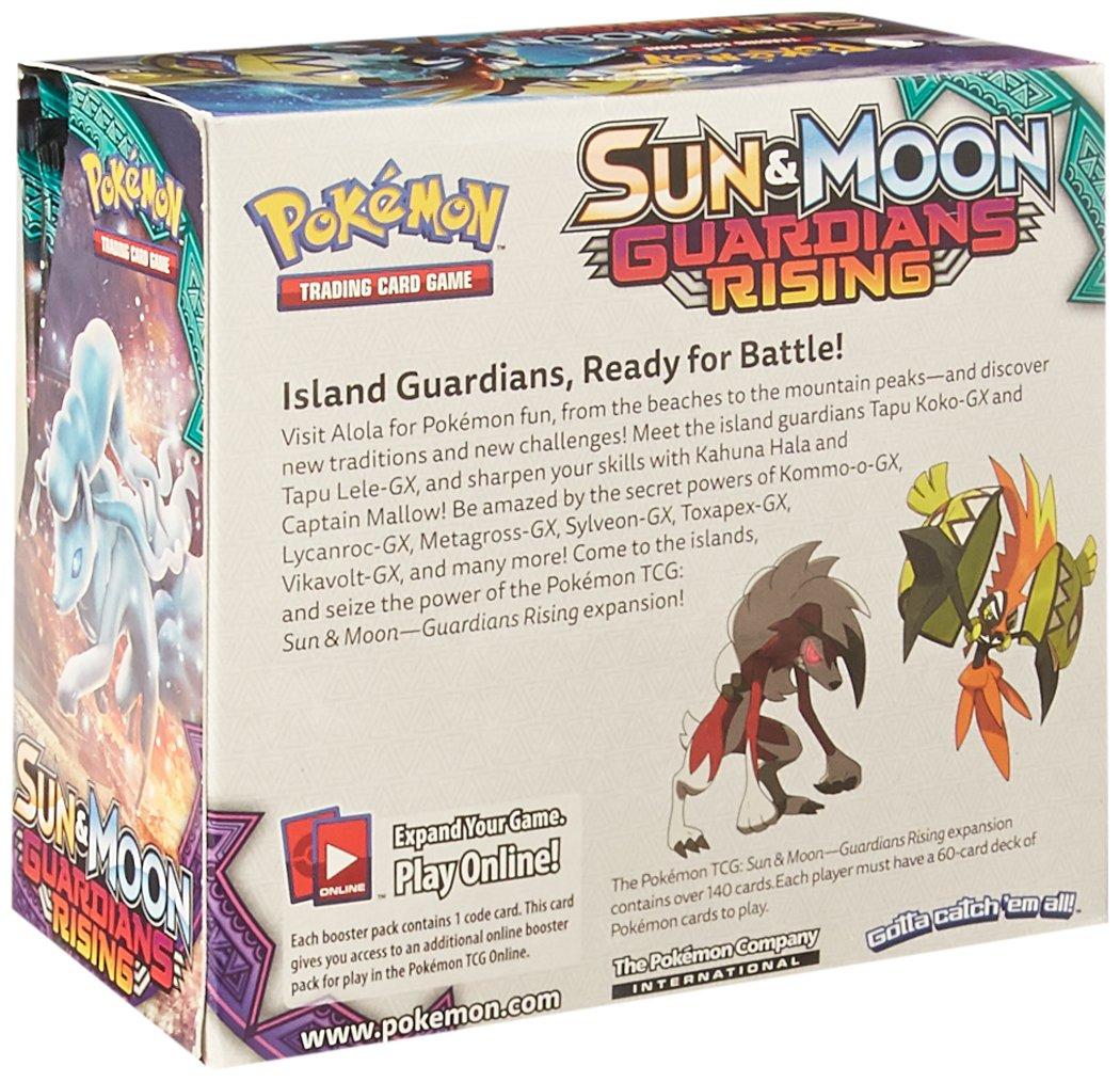 Pok Mon Sun Moon Guardians Rising Booster Display 36 X Boosters  # Muebles Pokemon