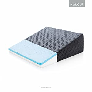 MALOUFZ Gel-Infused Memory Foam Pillow-Therapeutic Bed Wedge with Removable Rayon from Bamboo Cover