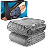 """RELAX EDEN Adult Weighted Blanket W/Removable, Washable Duvet Cover