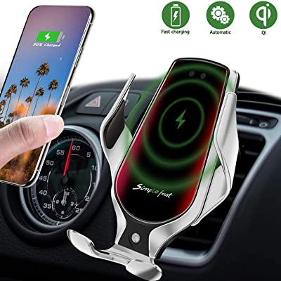Wireless Car Charger, 10W Qi Auto-Clamping Car Charger Mount, Air Vent Dashboard Fast Charging Car Charger Holder Compatible iPhone SE/11/11 Pro/11 Pro Max/Xs MAX/XS/XR/X/8/8+, Samsung S10/S10+/S9/S9+: Home Audio & Theater