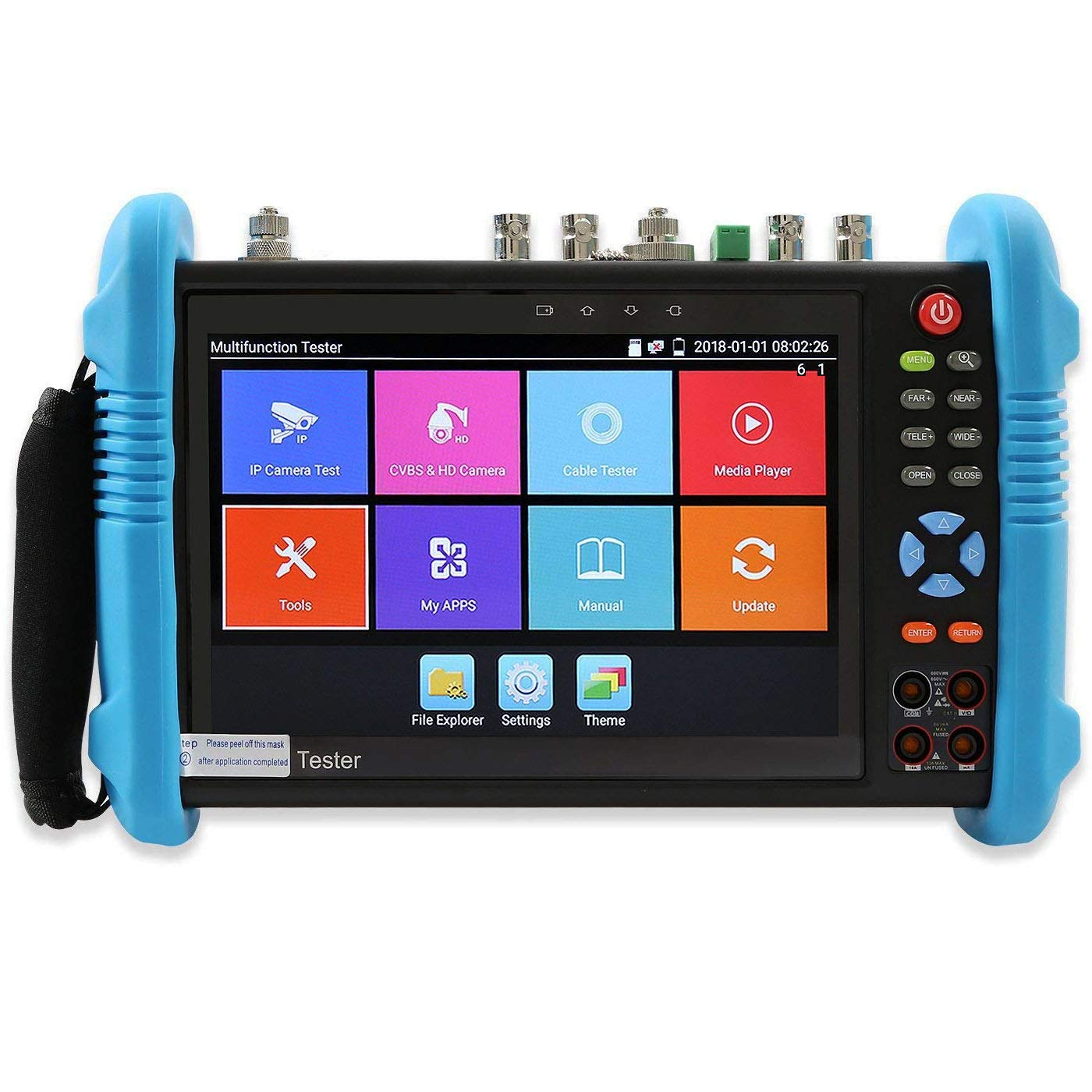 Rsrteng IPC-9800MOVTADHS Plus Full Features CCTV Camera Tester 7-inch IPS Touch Screen Monitor CCTV Tester with HD-TVI HD-CVI AHD SDI IP Camera Support DMM OPM VFL TDR Features POE WiFi 4K H.265 HDMI by Rsrteng