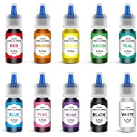 JIM'S STORE Colorante Alimentario 10*6ml, Set de Colorante Alta Concentración Liquid para Colorear los Bebidas Pasteles…