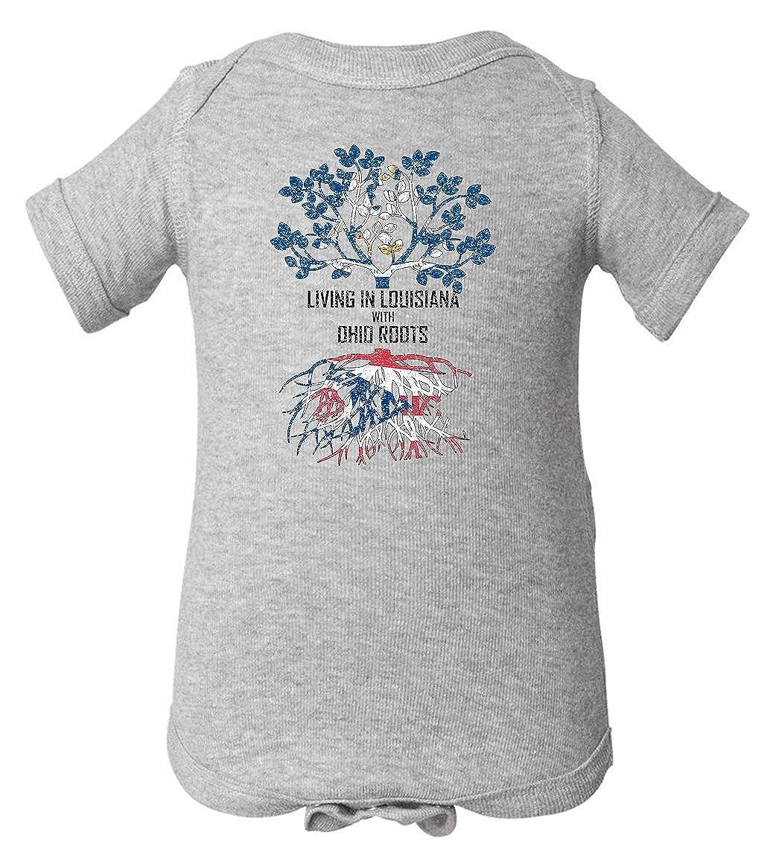 Tenacitee Babys Living in Louisiana Ohio Roots Shirt