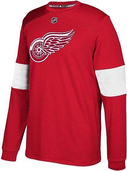 adidas Detroit Red Wings NHL Platinum Men's Long Sleeve