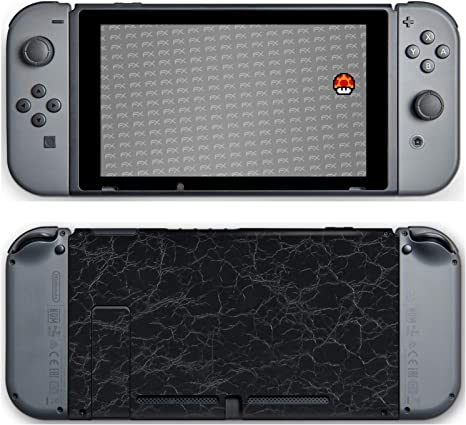 atFoliX Skin compatible con Nintendo Switch, Sticker Pegatina (FX-Rugged-Leather-Black), Estructura de cuero grueso: Amazon.es: Videojuegos