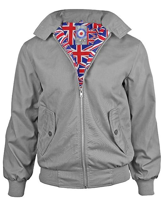 Hombres Clásica Chaqueta Harrington Independiente De La Vespa Union Jack Chaqueta Futter - Gris oscuro - 3XL: Amazon.es: Ropa y accesorios
