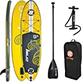 "Z-Ray X1 SUP 9'9"" Inflatable Stand-Up Paddleboard Package, 6 Inches Thick"