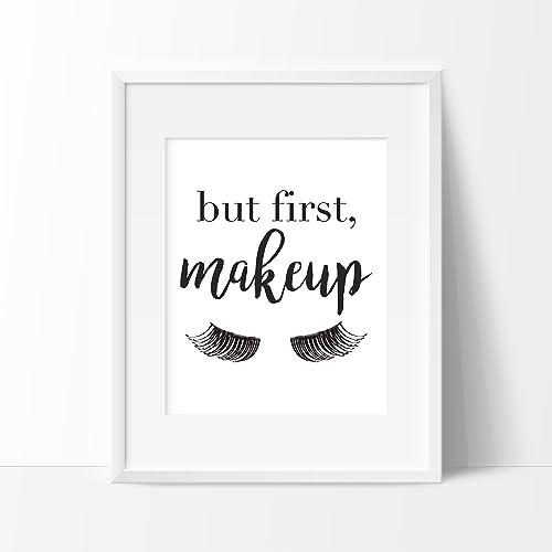 Amazon.com But First, Makeup Art Print , Makeup Wall Art