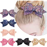 5 Inch Glitter Hair Bows Boutique Hair...