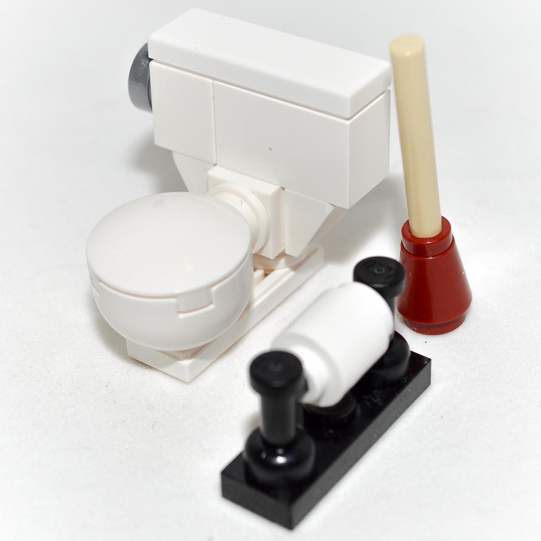 Amazon.com: LEGO Furniture: Toilet Bowl Set - Custom Designed with ...