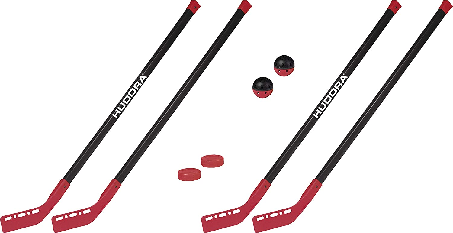 76121 1 Hockey-Puk 1 Hockey-Ball HUDORA Street Hockey-Set Junior 2 Street-Hockeyschl/äger