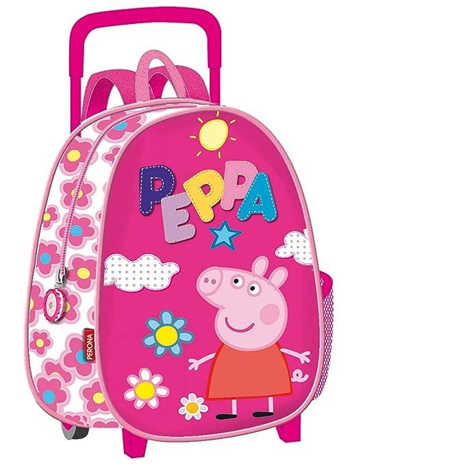 Peppa Pig 30650 - Mochila de guardería (Montichelvo 30650) - Mochila carro guardería: Amazon.es: Ropa y accesorios