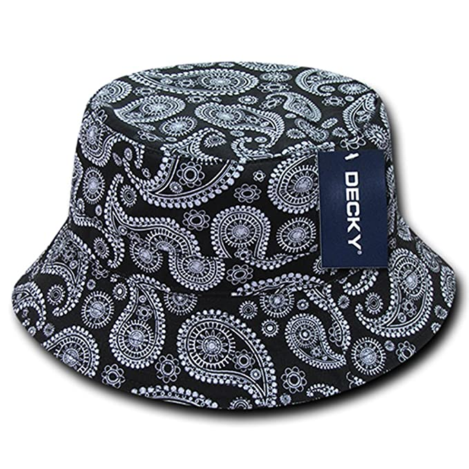 e500b06ca DECKY Paisley Bandana Print 100% Cotton Bucket Hat