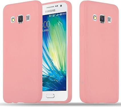 Cadorabo Coque pour Samsung Galaxy A3 2015 en Candy Rose Vif - Housse Protection Souple en Silicone TPU avec Anti-Choc et Anti-Rayures - Ultra Slim ...