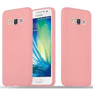 Cadorabo Funda para Samsung Galaxy A3 2015 en Candy Rosa – Cubierta Proteccíon de Silicona TPU Delgada e Flexible con Antichoque – Gel Case Cover ...