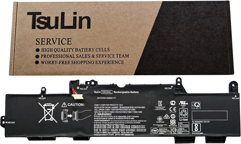 TsuLin SS03XL Laptop Battery Compatible with Hp EliteBook 730 735 740 745 830 840 846 ZBOOK 14U G5 HSN-I12C HSN-I13C-4 Series Notebook 932823-421 933321-855 HSTNN-LB8G 11.55V 50Wh 4330mAh