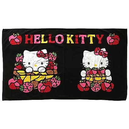Hello Kitty Sanrio Original Toalla Toalla de Sauna Frutero Negro