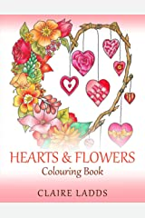 Hearts & Flowers Colouring Book Paperback