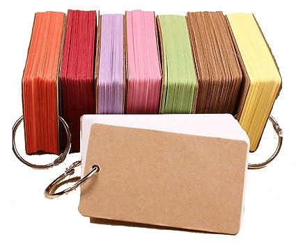 Mini tarjetas notas - Juego de 10 blocs de notas protectora Kraft ...