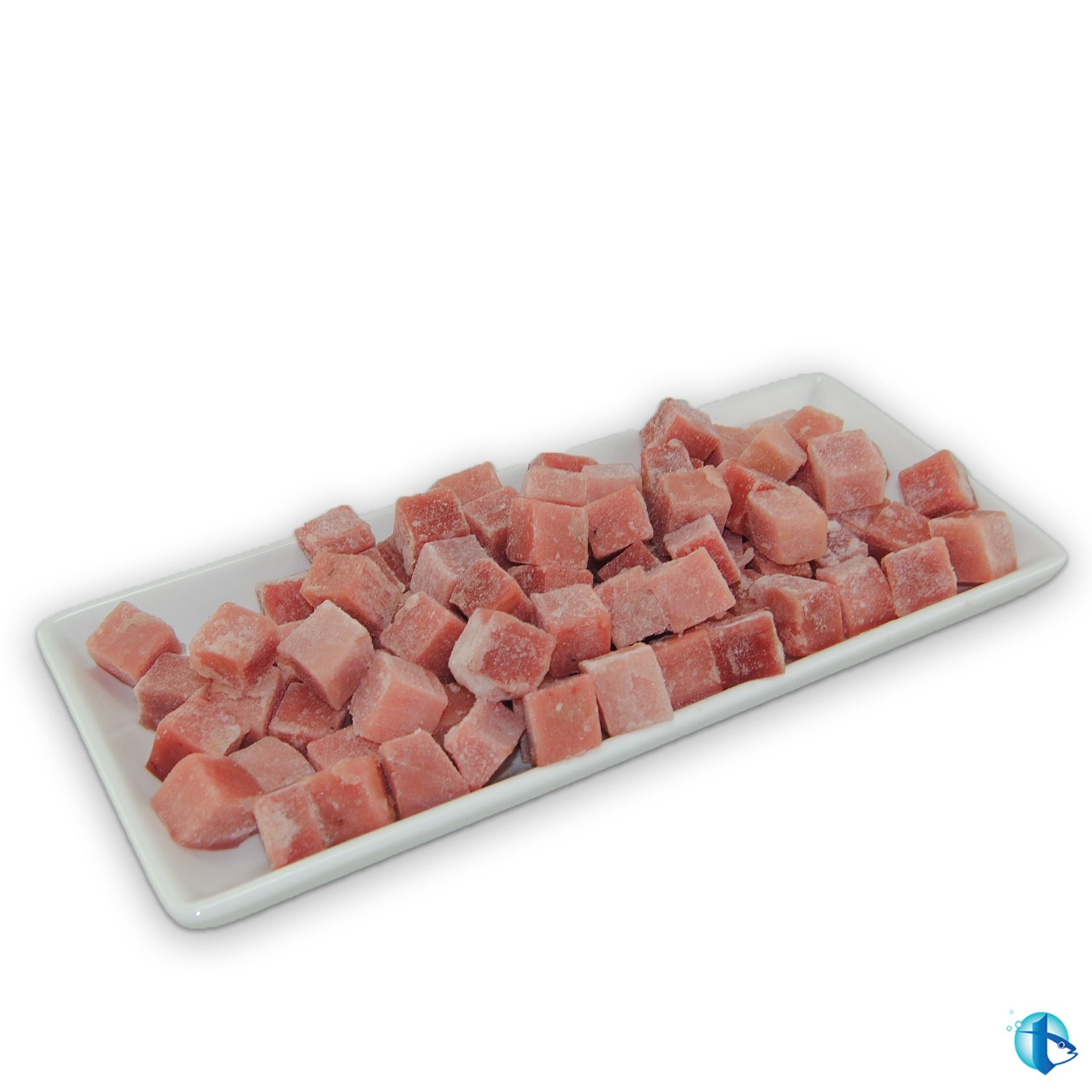 "Tristan ULT Frozen, Sashimi Grade Ahi Poke Cubes 5/8"" - 5 lbs. Skinless, Boneless, and Bloodline Removed"