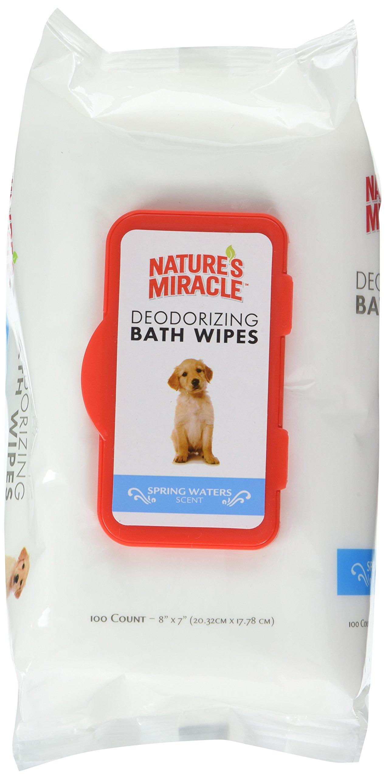 Deodorizing Dog Bath Wipes