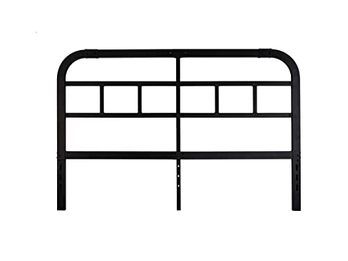 COMASACH 40 Inches Metal Headboard in Black, King
