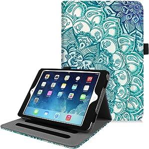 Fintie Case for iPad Mini/Mini 2 / Mini 3 [Corner Protection] - [Multi-Angle Viewing] Folio Smart Stand Protective Cover with Pocket, Auto Sleep/Wake for Apple iPad Mini 1/2 / 3, Emerald Illusions