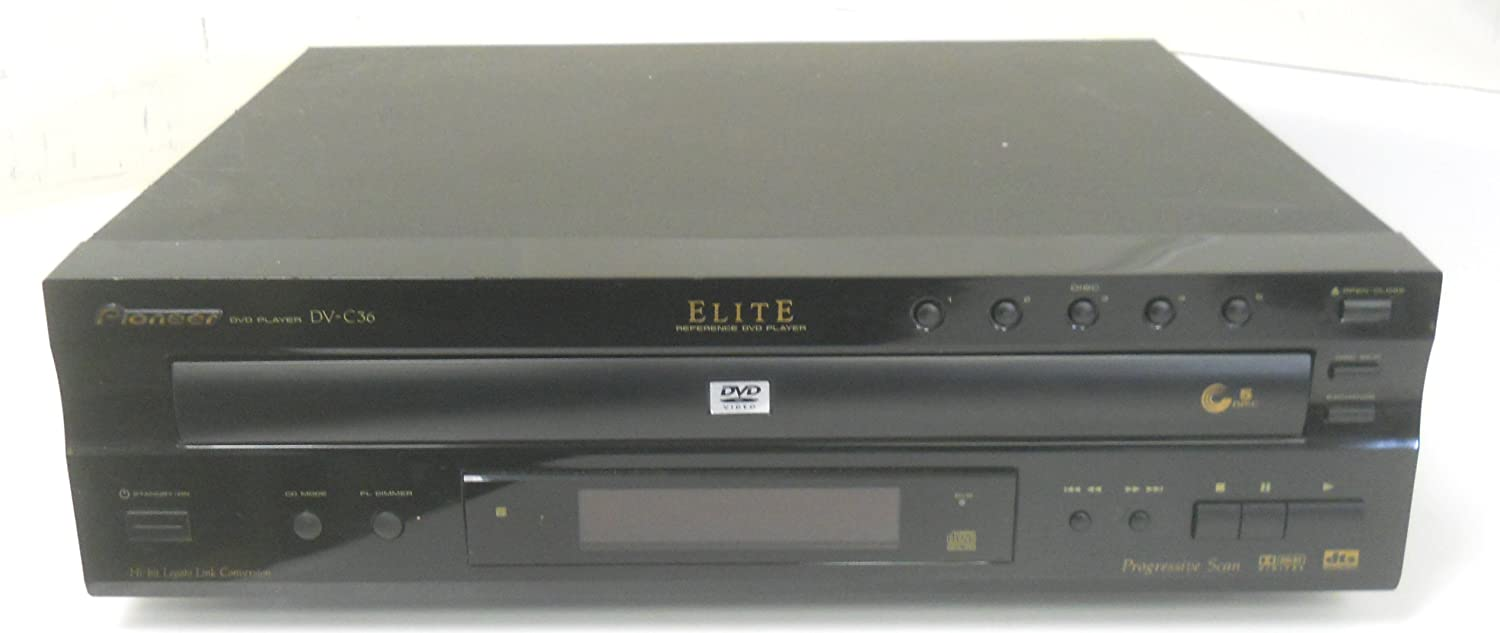 Pioneer DV-C36 Elite Reference 5 DVD CD Changer dts Digital Out Dolby Progressive Scan Compact Disc Video