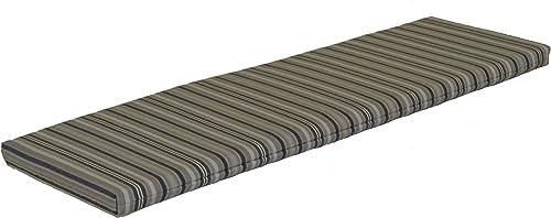 A L Furniture Sundown Agora 6 Cushion for Bench Or Porch Swing, 68 L 17 W 2 T, Gray Stripe