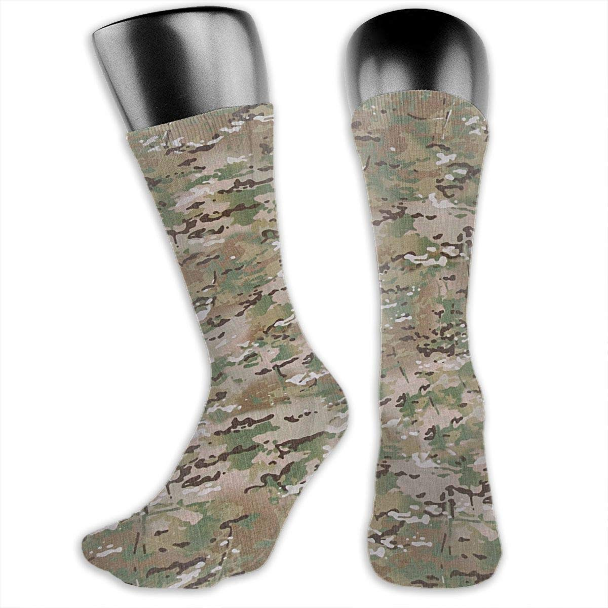 OLGCZM Camouflage Pattern Texture Men Womens Thin High Ankle Casual Socks Fit Outdoor Hiking Trail