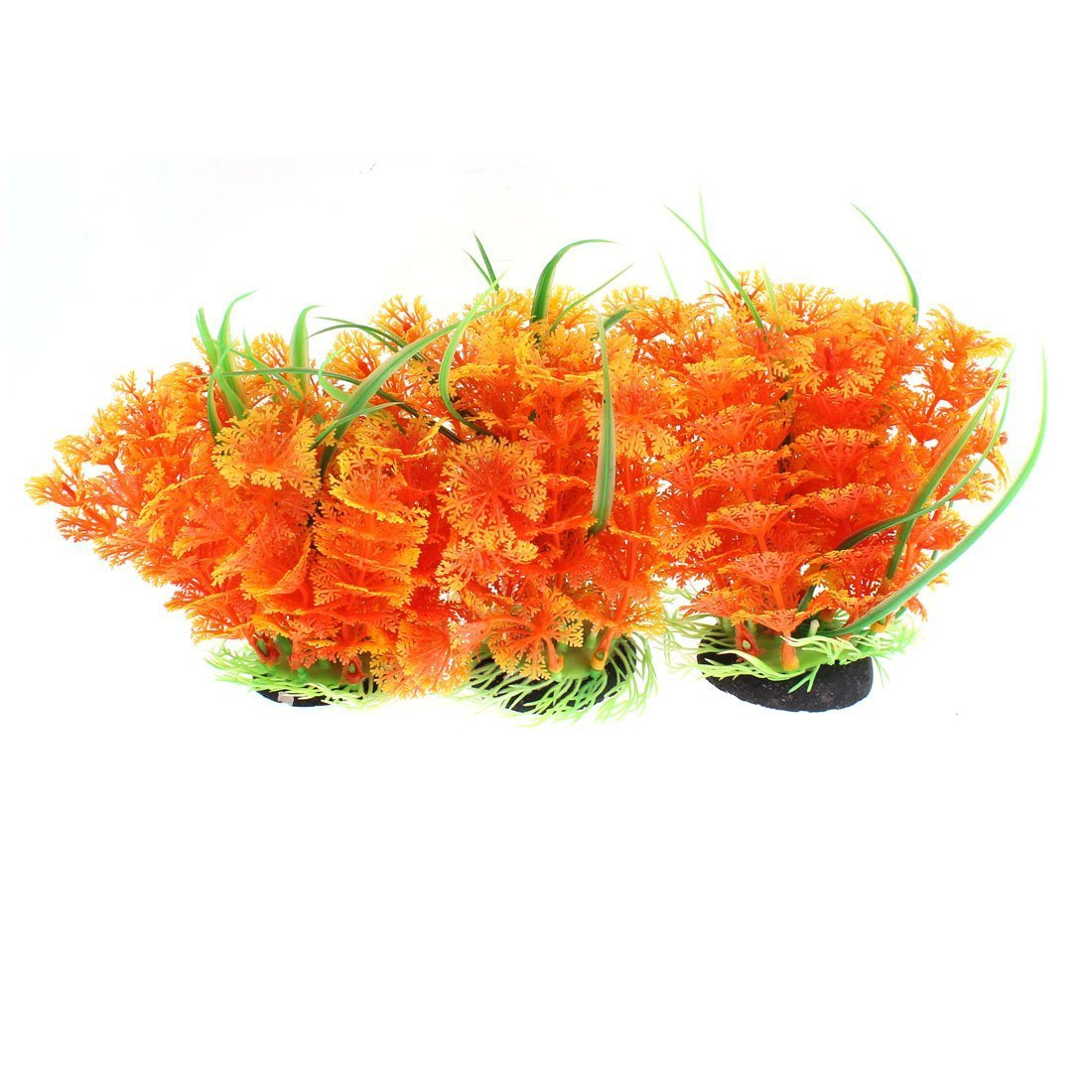 1Pc Plastic Fish Bowl Artificial Aquascaping Water Plant Grass Flower
