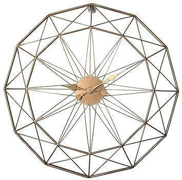 Tosbess 60CM Relojes de Pared Silencioso Grandes Originales de Metal Estilo Vintage para el hogar/la Cocina/la Oficina/la Escuela: Amazon.es: Hogar