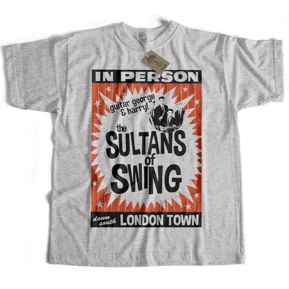 Old Skool Hooligans Tribute to Dire Straits T Shirt - Sultans of Swing Poster sultansofswing