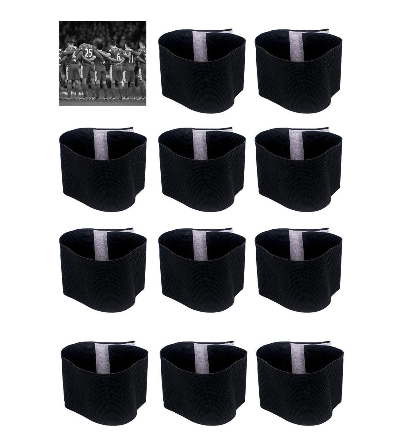 Wrzbest Black Mourning Band Soccer Football Mourning Armband,Elacstic Adjustable Funeral Armband