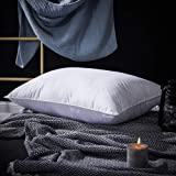 PALAWRAN Goose Down Pillow Side Sleeper and Back Sleeper Down Pillow with 1200 Thread Count Pure Egyptian Cotton Shell, Queen