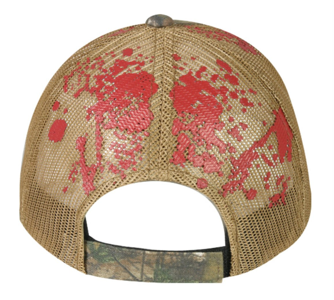 Squirrel Target Cross-Hair with Blood Splatter Mesh Hunting Hat by Outdoor Cap (Image #2)